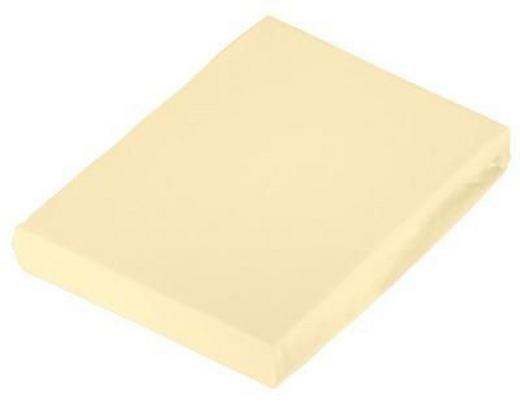 SPANNBETTTUCH Jersey Gelb bügelfrei - Gelb, Basics, Textil (120/200cm) - Novel