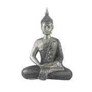 BUDDHA - barvy stříbra, Lifestyle, kámen/umělá hmota (22,5/29,5cm) - Ambia Home