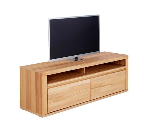 TV DÍL, jádrový buk, barvy buku - barvy stříbra/barvy buku, Konvenční, dřevo (165/57/51cm) - Voleo