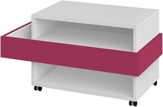 TV-ELEMENT Pink, Weiß - Pink/Weiß, Basics, Kunststoff (101,1/57,3/53,8cm) - Xora