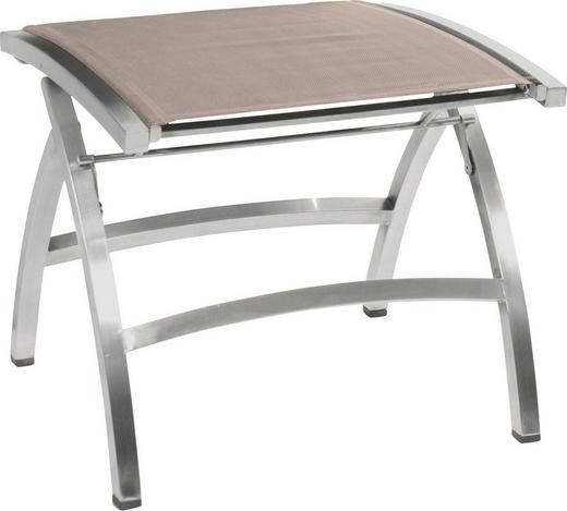 GARTENHOCKER - Beige/Braun, Design, Textil/Metall (50/44/52cm) - Zebra Süd