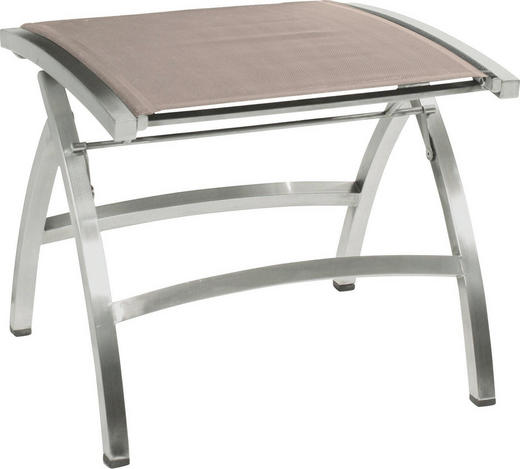 GARTENHOCKER - Edelstahlfarben/Braun, Design, Textil/Metall (50/44/52cm) - Zebra Süd