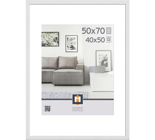 RÁM NA OBRAZY, bílá - bílá, Basics, umělá hmota/sklo (50/70cm)