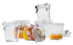 EINMACHGLAS-SET, 6-TLG.  - Transparent, Basics, Glas (7/7cm) - Homeware
