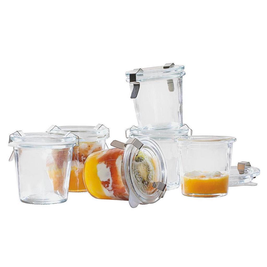 Image of Homeware Einmachglas-set , 511528 , Glas , 7 cm , lebensmittelecht, Silikonring, Bügelverschluss, auslaufsicher , 0084680015