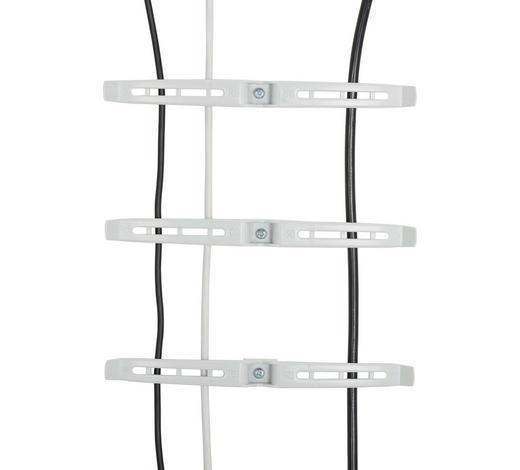 KABELHALTER - Hellgrau, Design, Kunststoff (21,5/1,5/2cm)