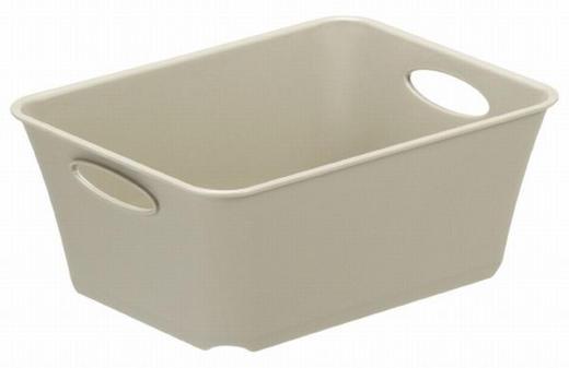 BOX - Beige, KONVENTIONELL, Kunststoff (14,6/11,4/6cm) - Rotho