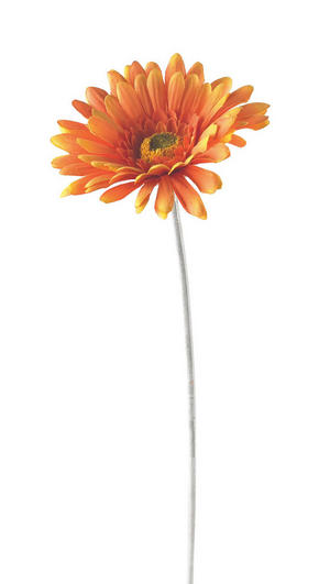 KONSTGJORD BLOMMA - orange/grön, Basics, textil/plast (56//cm)
