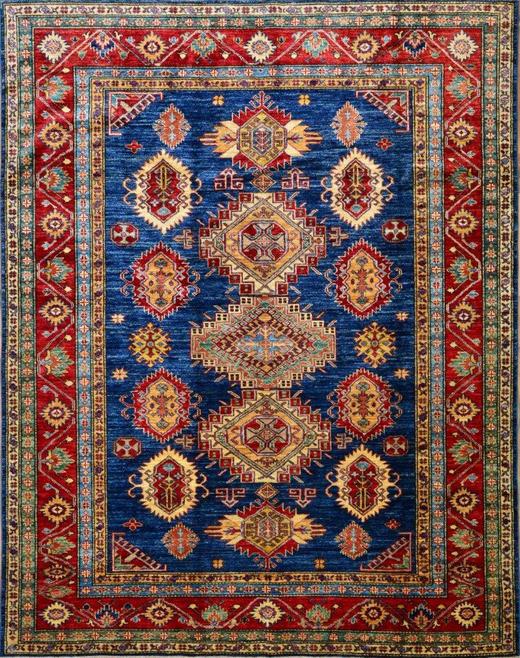 ORIENTTEPPICH 140 200  cm - Blau/Multicolor, KONVENTIONELL, Weitere Naturmaterialien (140 200 cm) - Esposa