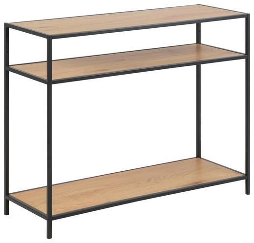 KONSOLENTISCH in Metall, Holzwerkstoff   100/79/35 cm - Eichefarben/Schwarz, Trend, Holzwerkstoff/Metall (100/79/35cm) - Carryhome