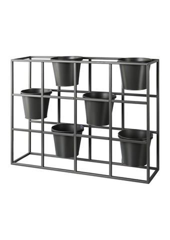 BLUMENKASTEN Metall - Grau, Design, Metall (65/17/52cm)