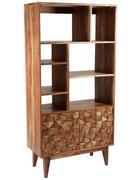 REGÁL, akácie, masivní, barvy akácie - barvy akácie, Lifestyle, dřevo (77/155/35cm)