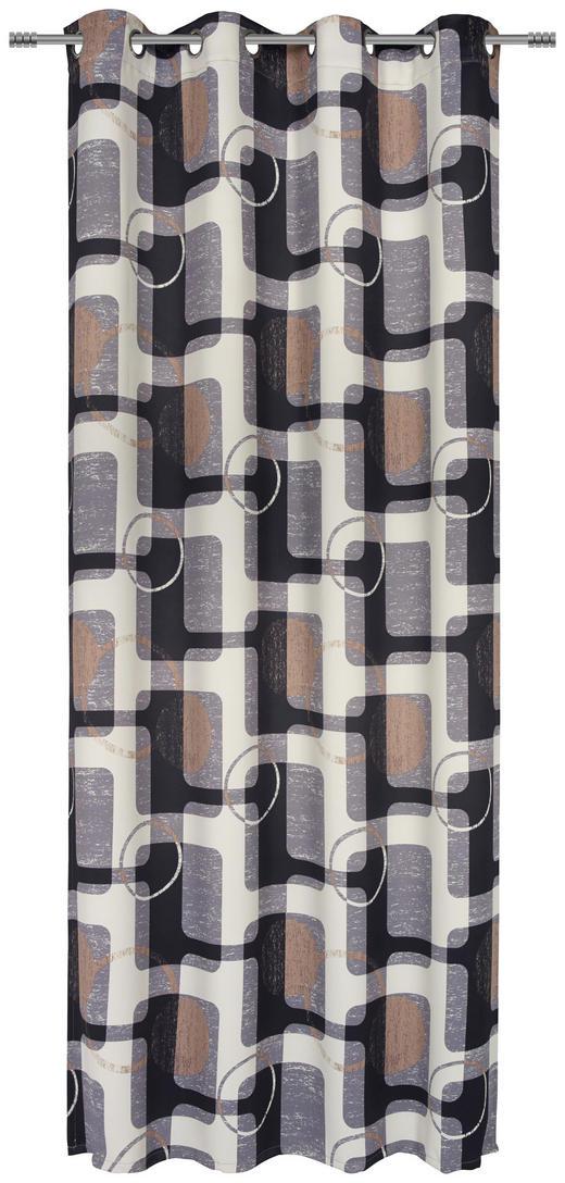 ÖSENSCHAL  black-out (lichtundurchlässig)  135/245 cm - Schwarz/Braun, Design, Textil (135/245cm) - Esposa