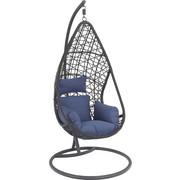 FOTELJA VISEĆA - siva/plava, Design, metal/tekstil (122/200/104cm) - Ambia Garden