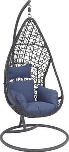HÄNGESESSEL Grau - Blau/Grau, Design, Kunststoff/Textil (122/200/104cm) - Ambia Garden