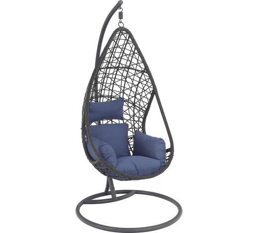 HÄNGESESSEL Blau  - Blau/Grau, Design, Kunststoff/Textil (122/200/104cm) - Ambia Garden