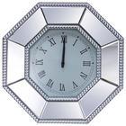 ZIDNI SAT - boje srebra, Design, staklo/drvni materijal (50,5/50,5/5cm) - Xora