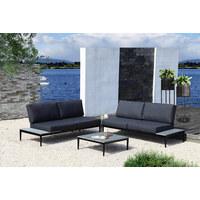 LOUNGE GARNITURA - siva/antracit, Moderno, metal/tekstil (259/259cm) - Ambia Garden