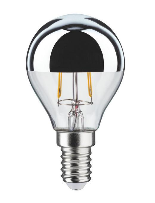 E14 LED ŽARNICA 28504 - prosojna/srebrna, Konvencionalno, steklo (4,5/7,8cm)
