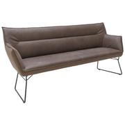 KLOP, kovina, tekstil, usnje črna, rjava - črna/rjava, Design, kovina/tekstil (208/95/68cm) - Ambiente