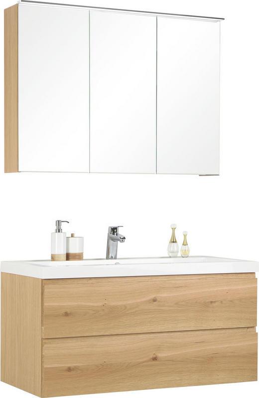 BADEZIMMER - Eichefarben, Design, Glas/Holz (105cm) - Novel