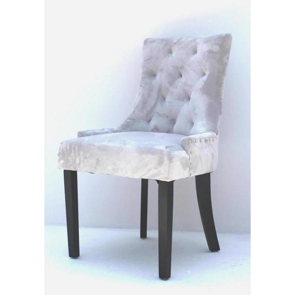 XXXL STUHL Samt Kautschukholz Grau | Küche und Esszimmer > Stühle und Hocker > Esszimmerstühle | Grau | Holz