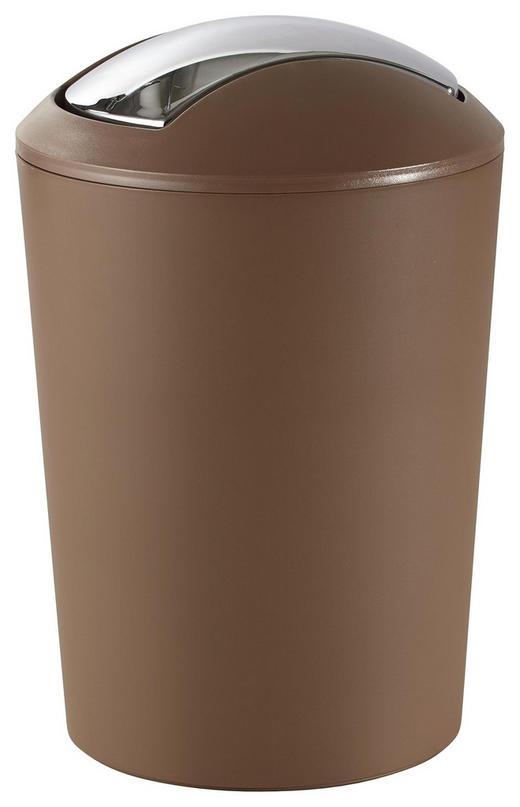SCHWINGDECKELEIMER 5 L - Taupe/Schwarz, Basics, Kunststoff (19,5/29,0cm) - Kela