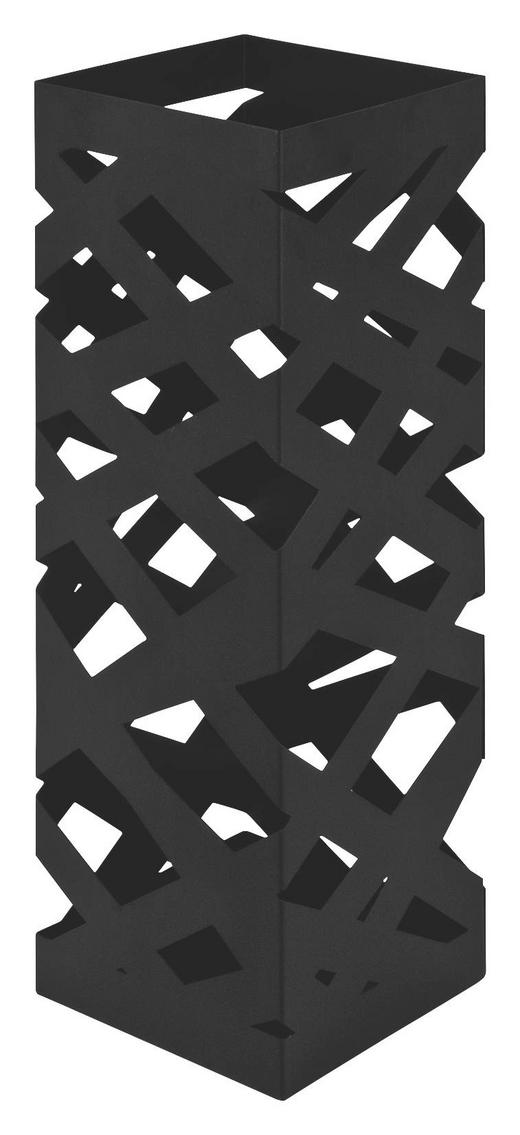 SCHIRMSTÄNDER Metall Schwarz - Schwarz, Design, Metall (16/48/16cm)