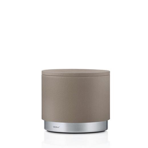 AUFBEWAHRUNGSBOX - Taupe, Basics, Stein/Metall (9,8/8,6cm) - Blomus