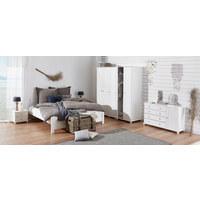 KLEIDERSCHRANK in massiv, teilmassiv Kiefer Weiß - Weiß, LIFESTYLE, Holz/Holzwerkstoff (80/190/60cm) - HOM IN