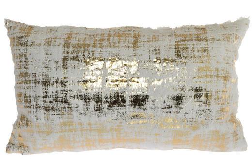 ZIERKISSEN - Goldfarben/Weiß, Textil (50/10/30cm)