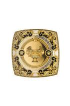 DEKORATIVNI KROŽNIK PRESTIGE - zlata/bela, Konvencionalno, keramika (21,4/21,4/7,5cm) - Versace