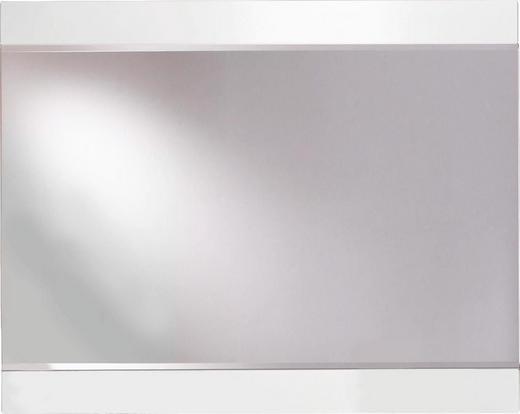 SPIEGEL Weiß - Weiß, Design, Glas/Holz (95/75/4cm) - XORA