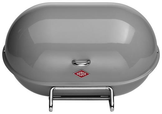 BROTKASTEN - Grau, Basics, Metall (34/23/21cm) - Wesco