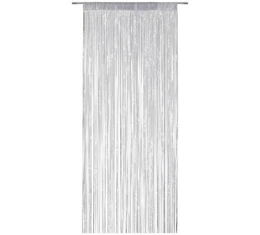 FADENSTORE transparent - Silberfarben/Grau, Trend, Textil (90/245cm) - Boxxx