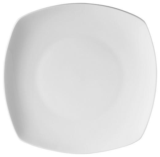 Bone China  DESSERTTELLER  rund - Weiß, Basics, Karton/Keramik (19,5cm) - Novel