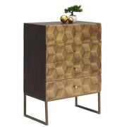 KOMMODE - Messingfarben/Honig, Trend, Holz/Holzwerkstoff (70/98/42cm)