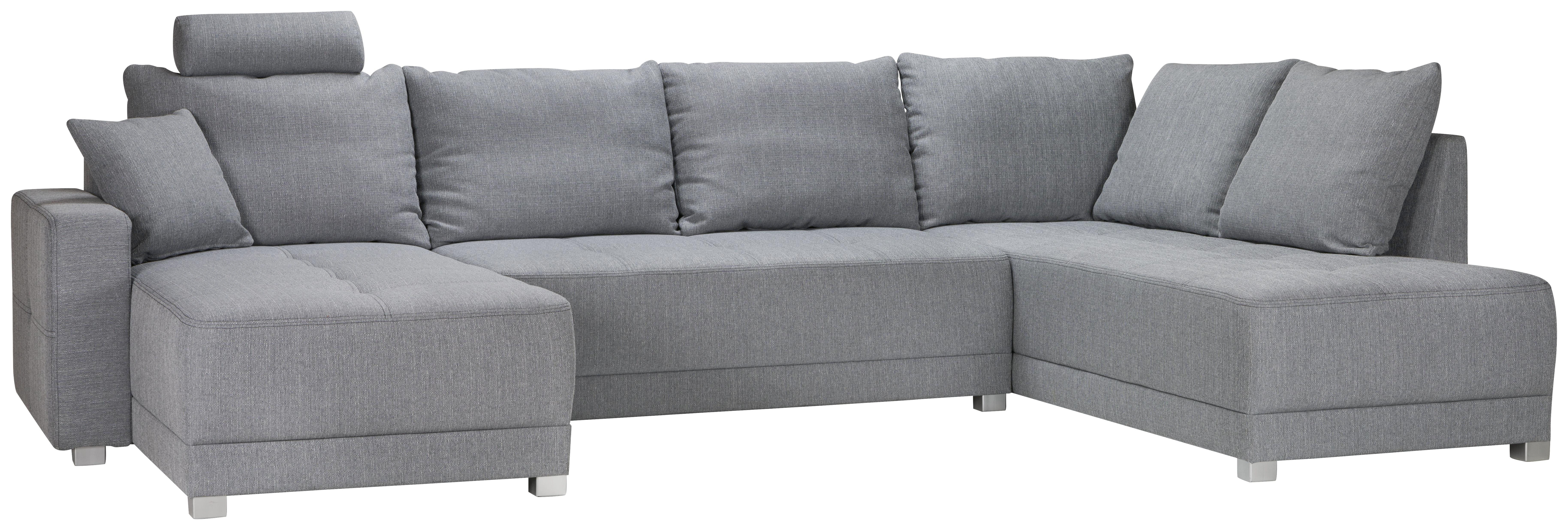 SOFFA - ljusgrå/silver, Design, textil/plast (328/86/168cm) - Xora