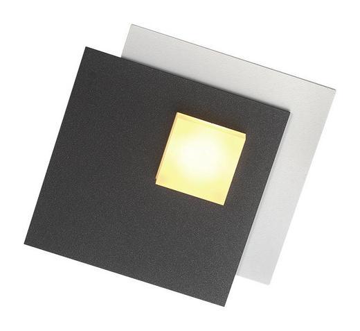 LED-DECKENLEUCHTE - Anthrazit/Weiß, Basics, Metall (15/15/3,5cm)