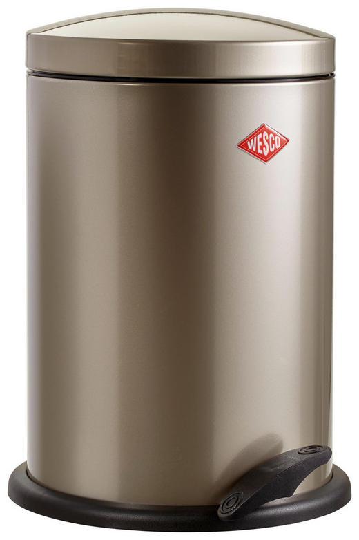 ABFALLSAMMLER 13 L - Silberfarben/Schwarz, Basics, Kunststoff/Metall (27/41cm) - Wesco