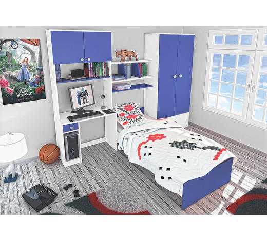 SOBA ZA MLADE - bijela/plava, Design, drvni materijal (274/202/50cm) - Boxxx