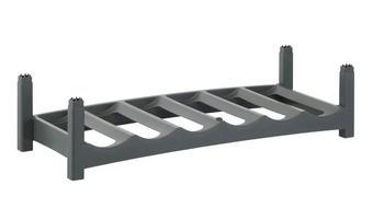 REGÁL NA LÁHVE, šedá - šedá, Basics, umělá hmota (60/22/14cm) - Rotho