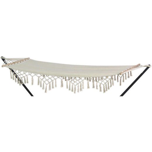 HÄNGEMATTE Mischgewebe Beige - Beige, LIFESTYLE, Textil (200/80cm)