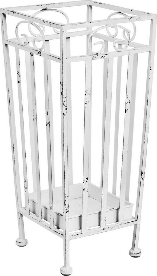SCHIRMSTÄNDER Metall Weiß - Weiß, Design, Metall (20/46/20cm)