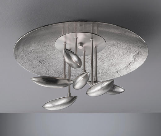 DECKENLEUCHTE - Alufarben/Nickelfarben, MODERN, Metall (50/29cm)