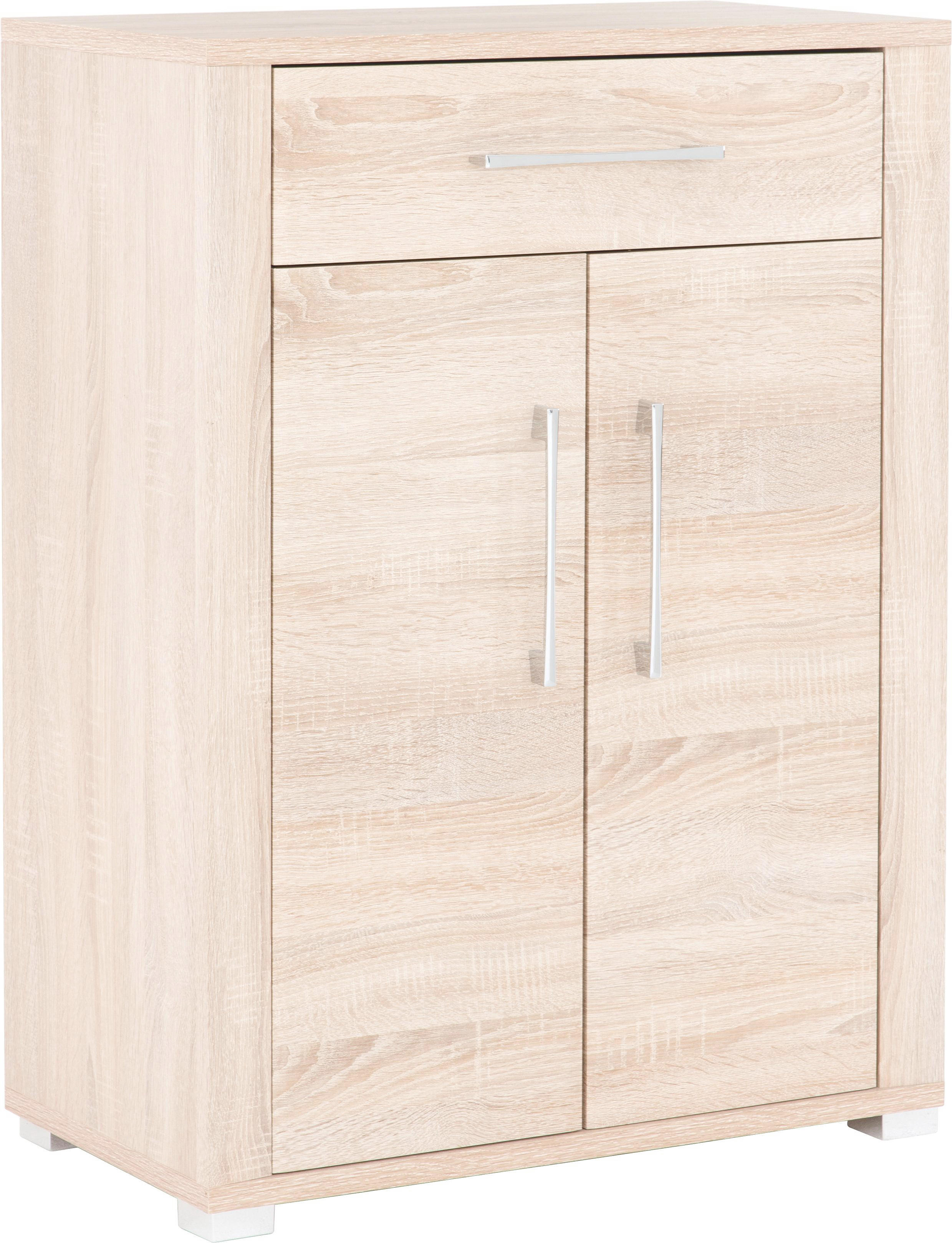 ORMAR ZA OBUĆU - boje kroma/hrast Sonoma, Konvencionalno, drvni materijal/plastika (74/100/40cm) - CANTUS