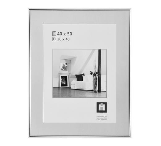 RÁM 40X50CM, barvy stříbra - barvy stříbra, Basics, umělá hmota/sklo (40/50cm)