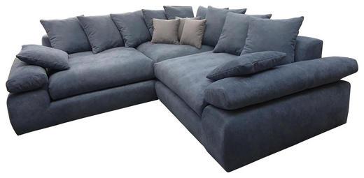 WOHNLANDSCHAFT Grau Webstoff - Schwarz/Grau, Design, Kunststoff/Textil (284/284cm) - Carryhome