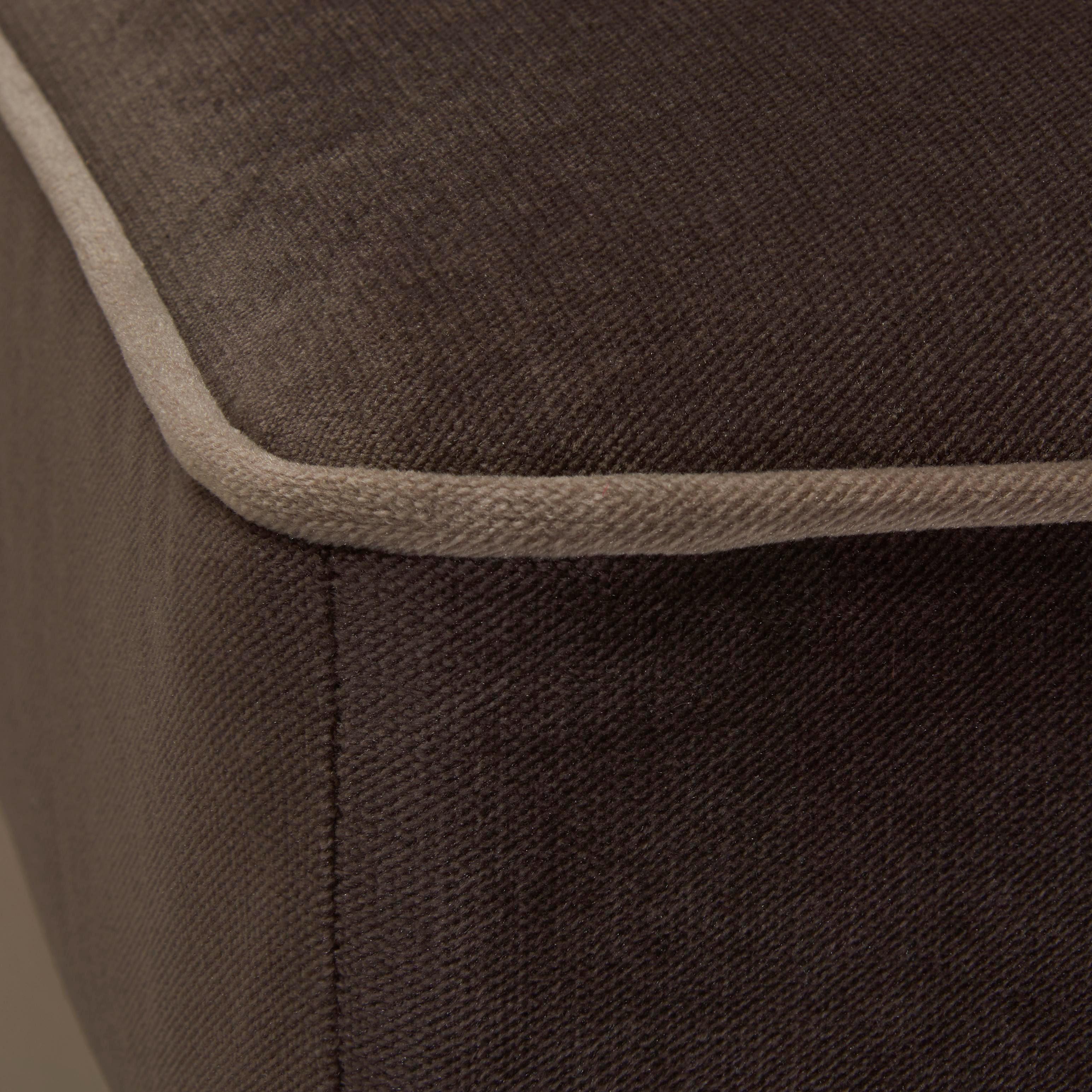ÖRONLAPPSFÅTÖLJ - brun/ljusgrå, Trend, textil/plast (108/113/142cm) - Hom`in
