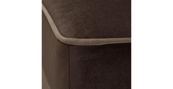 OHRENSESSEL in Textil Braun - Hellgrau/Braun, Trend, Kunststoff/Textil (108/113/142cm) - Hom`in